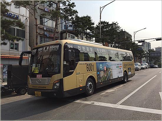[韓國自助] 往首爾仁川機場 首班最早6001號機場巴士搭車經驗分享 (住在東橫INN)