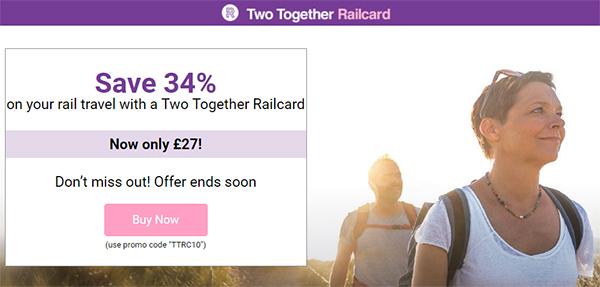 [英國自助] 鐵路卡線上買 不用英國地址 再幫你省10% 折扣 (超值Two Together Railcard 購買方式)