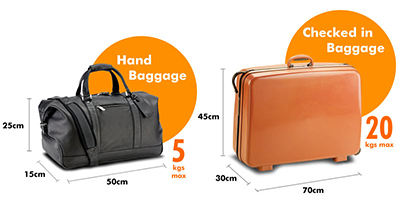 luggage allowance 2014
