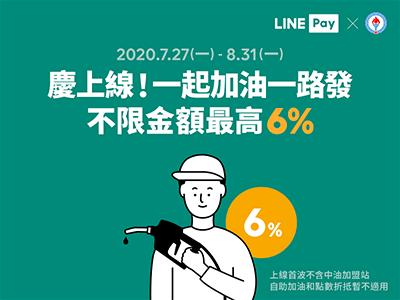 LINE Pay 加油活動 6% 回饋