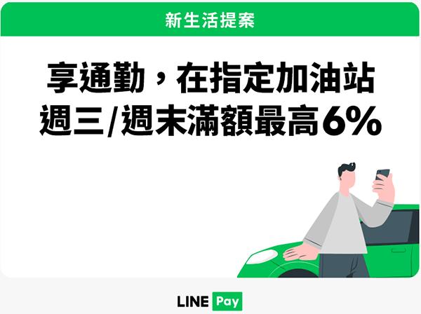 LINE Pay 在中油/台亞加油站最高享6%回饋