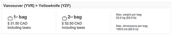baggage fee