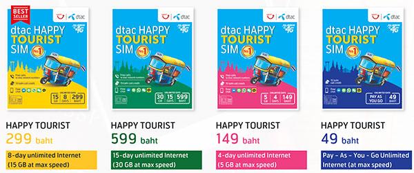dtac Happy Tourist SIM