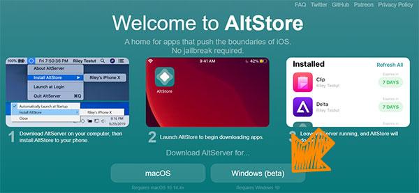 下載 AltStore 安裝軟體