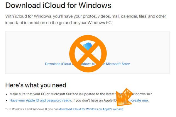 安裝iCloud從Apple