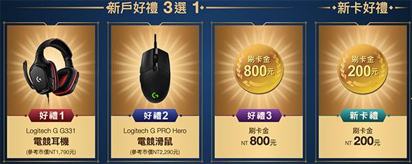 英雄聯盟卡新戶禮最高800元,新卡友亦有200元