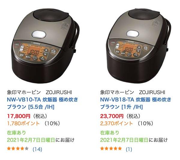 日本象印IH電子鍋購買價格:於日本BIC Camera購買